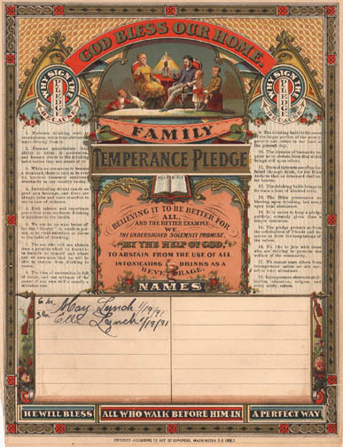 Lynch Temperance Pledge