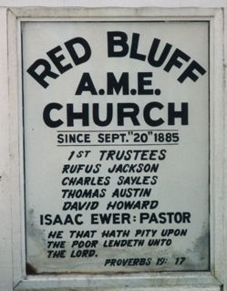 Red Bluff AME Sign