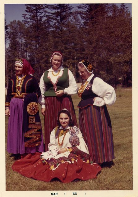 Ladies in Latvian Dress March 1963