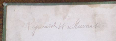 Reginald W. Stewart Signature