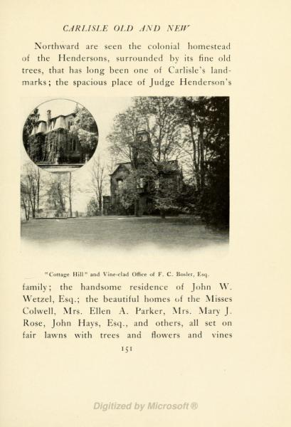 Cottage Hill circa 1905
