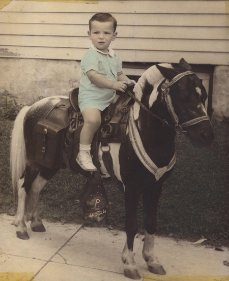 Lou @ age 2 on a pony